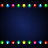 Festive background with lights. Festive stylish background with colored lights on dark blue textured background Royalty Free Stock Images
