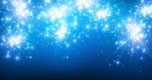 Festive Background. Festive luminous blue background. Vector paper Illustration Royalty Free Stock Photos