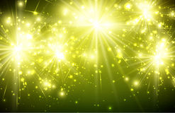 Festive Background. Festive luminous green background. Vector paper Illustration Royalty Free Stock Photos