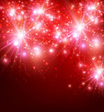 Festive Background. Festive luminous red background. Vector paper Illustration Royalty Free Stock Image