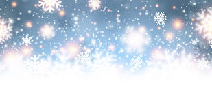 Festive Background. Festive luminous background with snowflakes. Vector Illustration Stock Photo