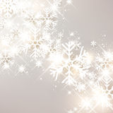 Festive Background. Festive luminous background with snowflakes. Vector Illustration Royalty Free Stock Images
