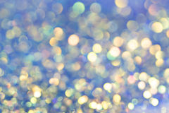 Festive Background With Natural Bokeh And Bright blue Lights. Magic background with colorful bokeh Royalty Free Stock Photo