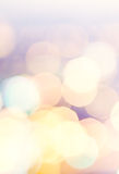 Festive background with natural bokeh and bright golden lights. Royalty Free Stock Photography