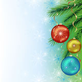 Festive background for New Year and Christmas Stock Image