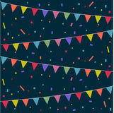 Festive background. Party, festive background with colorful flags Stock Photo