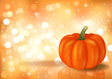 Festive background with pumpkin Royalty Free Stock Photo