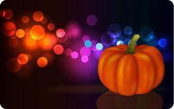 Festive background with pumpkin Stock Photo
