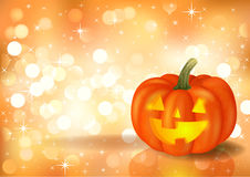 Festive background with pumpkin. For Halloween, a vector format Stock Images