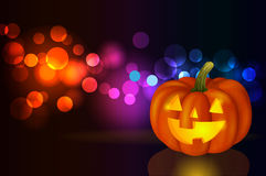 Festive background with pumpkin. For Halloween, a vector format Stock Image