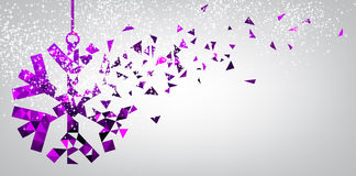 Festive background with purple snowflake. Royalty Free Stock Photography