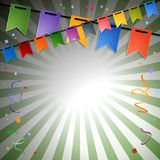 Festive background. Festive rays background with flags. EPS 10 Stock Photos