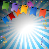 Festive background. Festive rays background with flags. EPS 10 Royalty Free Stock Images