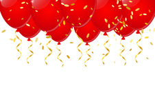 Festive background. With red balloons Royalty Free Stock Photo