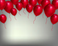 Festive background with red balloons. Vector art illustration Royalty Free Stock Images