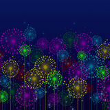 Festive background. Red, blue green lights in a festive background stock illustration