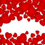 Festive background with red hearts.  Royalty Free Stock Photo