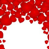 Festive background with red hearts.  Royalty Free Stock Photos