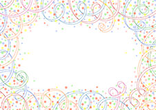 Festive background with ribbons and circles. Festive background with colored ribbons and circles Stock Photography