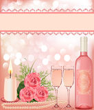 Festive background with rose, Stock Photos