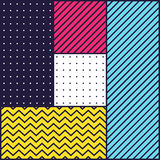 Festive Background in 80s Style. Festive Background in Neo Memphis Style Colorful Decorative Wallpaper with Simple Editable Bold Block Bright Smyk Color Stock Photography
