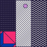 Festive Background in 80s Style. Festive Background in Neo Memphis Style Colorful Decorative Wallpaper with Simple Editable Bold Block Bright Smyk Color Stock Photos