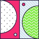 Festive Background in 80s Style Stock Images