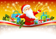 Festive background with Santa Claus. Space for text Stock Photography