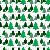 Festive background.Seamless pattern. Tree. The green background. Christmas and New year. Texture for web, print, Wallpaper, decoration, winter, fashion website Stock Images