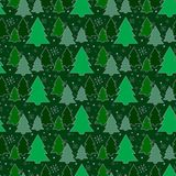 Festive background.Seamless pattern. Tree. The green background. Christmas and New year.Texture for web, print,. Wallpaper, decoration, winter, fashion website Stock Image