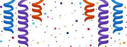 Festive background. With serpentine and confetti. Eps 10 Royalty Free Stock Photos