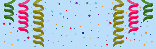 Festive background. With serpentine and confetti. Eps 10 Royalty Free Stock Photo