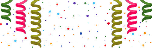 Festive background. With serpentine and confetti. Eps 10 Royalty Free Stock Photography