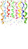 Festive background with a serpentine and confetti. Vector  illustration Stock Photo