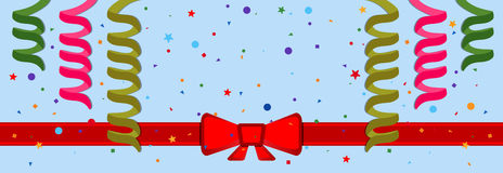 Festive background. With serpentine and red ribbon. Eps 10 Royalty Free Stock Photography