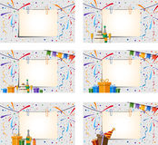 Festive background. Set of paper sheet with clips on a festive background. Eps 10 Royalty Free Stock Photography