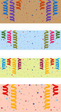Festive background. Set of festive background with serpentine and confetti. Eps 10 Stock Photos