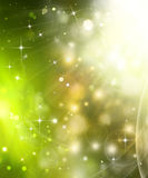 Festive background with stars. Beautiful green festive background with stars Royalty Free Stock Photography