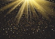 Festive background with stars and sparkles. Vector Royalty Free Stock Image