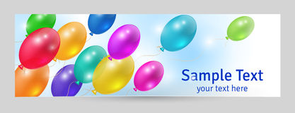 Festive background. Template banner with balloons, festive background Royalty Free Stock Images