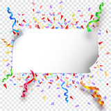 Festive background on transparent Royalty Free Stock Photography