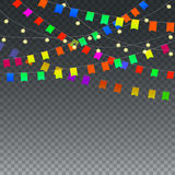 Festive background on transparent Stock Image