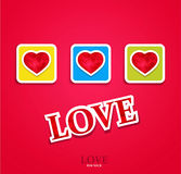 Festive background for Valentine's Day. With three hearts Royalty Free Stock Photos