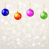 Festive background with varicoloured balls Royalty Free Stock Images