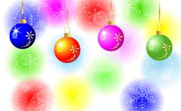 Festive background with varicoloured balls. Vector  illustration Stock Photos