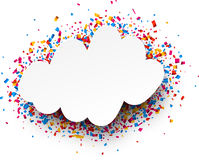 Festive background. White festive background with color confetti. Vector illustration Stock Photo