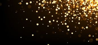 Festive background with yellow stars. Vector illustration Royalty Free Stock Photo