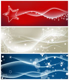 Festive backgrounds. Light waves and sparkling stars backgrounds Stock Image