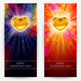 Festive backgrounds for Valentine's Day Royalty Free Stock Photos