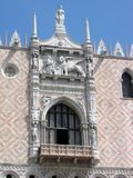 Festive balcony in the Doge`s Palace royalty free stock photo